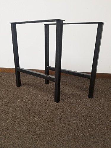 Economy Style - H-Frame Metal Table Legs - Black Steel Table Base