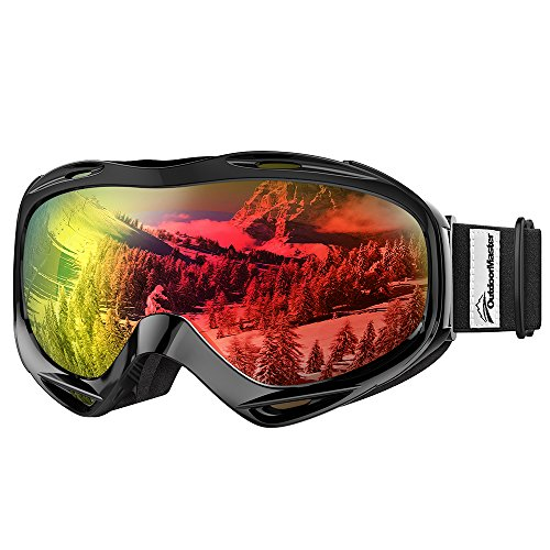 OutdoorMaster Ski Goggles OTG - Over Glasses Ski/Snowboard Goggles for Men, Women & Youth - 100% UV Protection