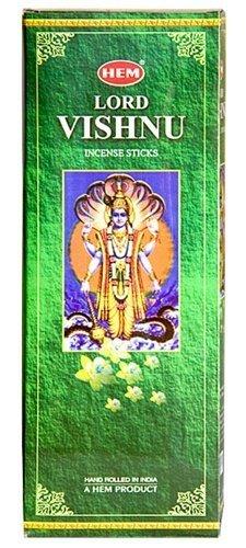 Lord Vishnu - Box of Six 20 Stick Tubes (120 Sticks Total) - HEM Incense