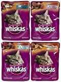 Whiskas Choice Cuts Seafood Menu Variety Pack - 12 cups