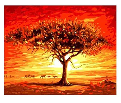 entrega de rayos Tworidc5-50x70cm Framed UPUPUPUP Anochecer Desierto Pintura Pintura Pintura de Bricolaje por números Pintura de óleo sobre árbol de Lienzo Abstracto Acrílico Arte de Parojo, Tworidc5-50X70Cm Enmarcado  precios bajos todos los dias