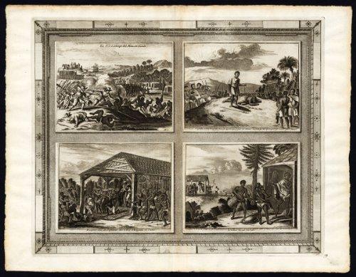 (Rare Antique Print-ELMINA-GHANA-KQOIA-KOYA-SIERRA LEONE-AFRICA-van der)