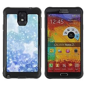 Be-Star único patrón Impacto Shock - Absorción y Anti-Arañazos Funda Carcasa Case Bumper Para SAMSUNG Galaxy Note 3 III / N9000 / N9005 ( Winter Snowflakes Snow Stars )