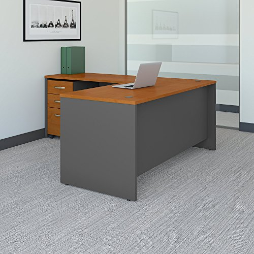 Bush Business Furniture SRC083NCSU Office Suite, Natural - Office Desk L-shape Suites