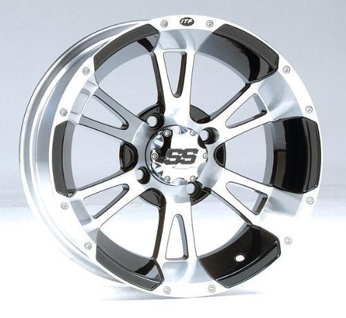 ITP SS ALLOY SS112 Black Wheel with Machined Finish (Itp Ss112 Wheel)