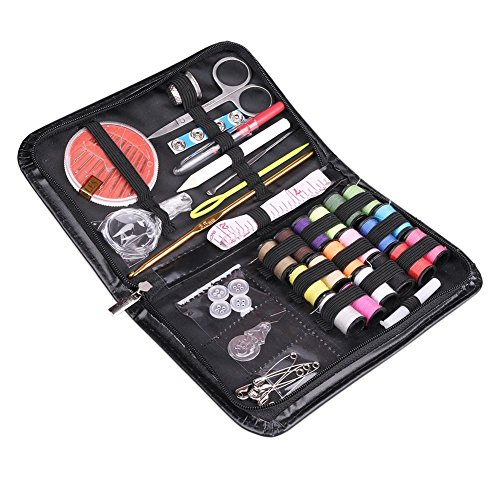 Compact Sewing Kit 42 Premium Sewing Supplies, Mini Carrying Box 18 Useful Colors Beginners Sewing Kit, Emergency sewing (A Cut Above Quilt Book)
