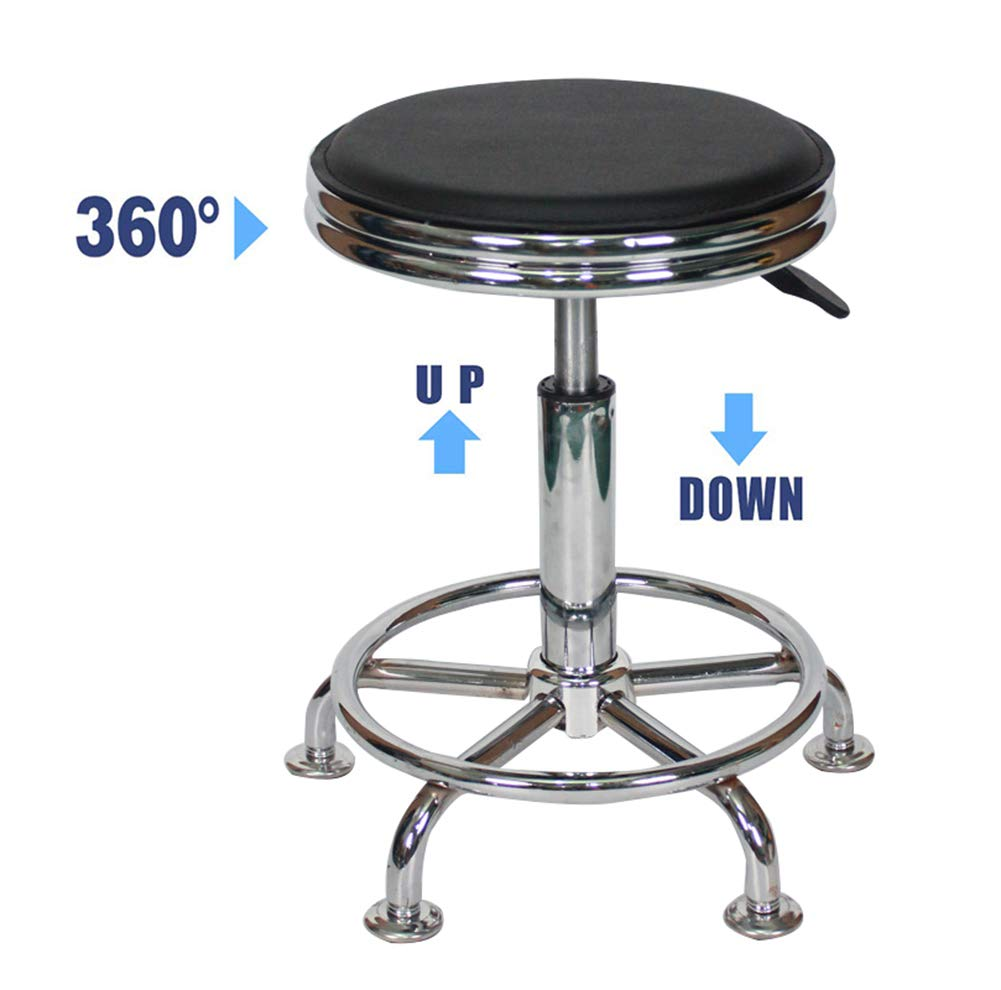 Bar Stools Chair Lift Rotate Stools, Beauty Salon Checkout Counter Front Desk Bar Stools Chair, 360° Swivel Ergonomic Bar Lifting Rotate Stools Chair-Black by YANGYA