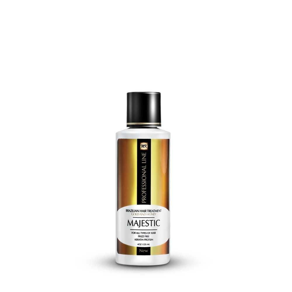 Majestic Keratin Brazilian Hair Treatment Gold & Honey 4oz (125ml) Maximum Strength