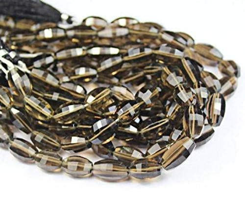 GemAbyss Beads Gemstone Smoky Quartz Faceted Marquise Briolette Marquise Loose Craft Beads Gemstone Strand 8 Inch Long 16mm 13mm Code-MVG-25933