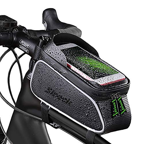 Lowest Price! Sireck Bicycle Bag Waterproof and Touch Screen Mountain Road Bike Front Frame Tube Bag...