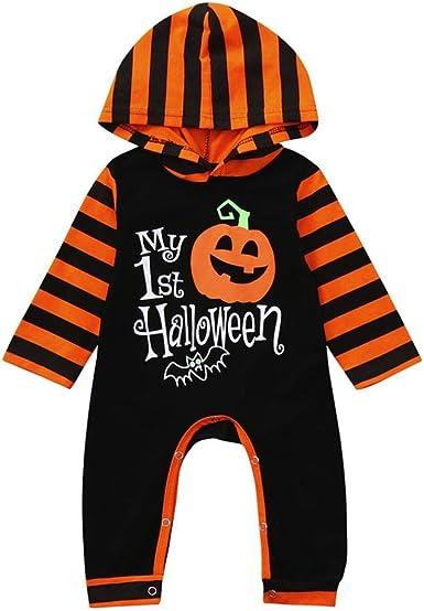 Pumpkin Halloween Funny Baby Infants Cotton Hoodie Hoody
