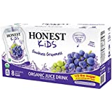 HONEST Kids Organic Juice Drink, Goodness Grapeness, 8-6.75 fl oz Pouches