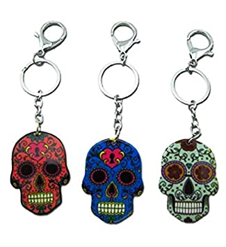 big sale united kingdom new style 1 PORTE CLES TETE DE MORT SKULL MEXICAIN COLORE 6CM MODE