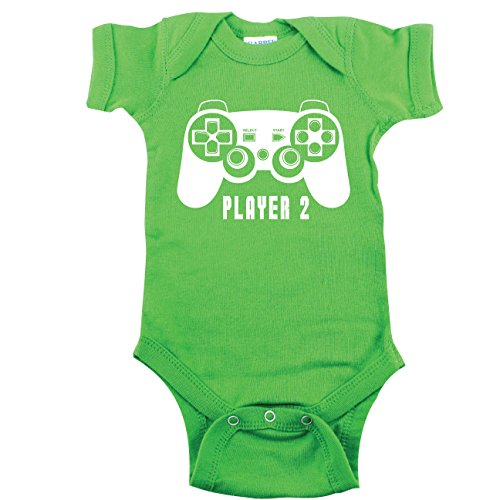 Video Game Baby Bodysuit, Gamer T-shirt, Player 2 Bodysuit, Green 3-6 m