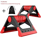 Findbetter Fitness Push Up Bars Stands Comfortable Handles Perfect Foldable Pushup Elite Home Gym Workout Sports Equipment Set