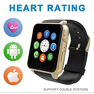Starrybay Smart Watch Bluetooth Sports Watch with Heart Rate Monitor,touch Screen and Magnetic Charging for Android Samsung Htc/apple Ios