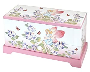 Girls Pink Fairy Musical Jewellery Trinket Box With Rotating ...
