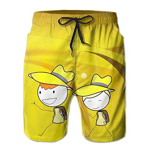 Matchstick Men Man's Leisure Beach Shorts