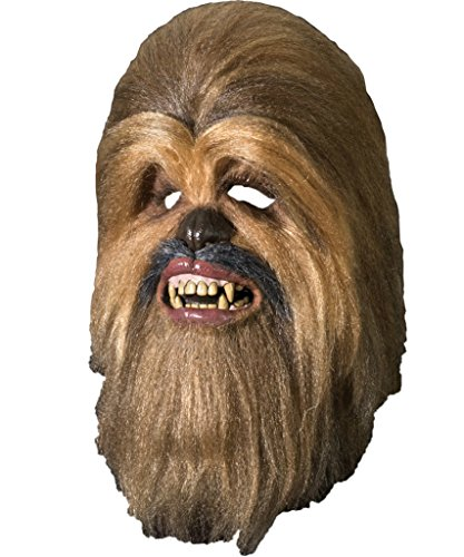 [Rubie's Star Wars Deluxe Chewbacca Full Latex and Fur Mask Accessory | 4195] (Deluxe Chewbacca Costumes)