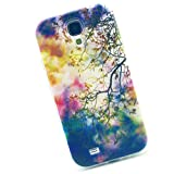 Cuitan High Quality Soft TPU Case Cover for Samsung Galaxy S4, Colorful Twig Pattern Design Back Cover Fashion Protective Case Shell Skin Protection Sleeve for Samsung Galaxy S4 i9500 - Colorful Twig