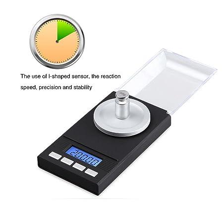 Digital miligramo báscula 20 G x 0,001 g, Kobwa recargar Digital escala de peso para joyería, Diamond, polvo, grano, medicamentos con pinzas de pesas de ...