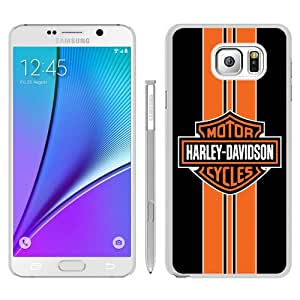 Fashionable Note 5 Case,Harley Davidson logo 14 White Phone Case For Samsung Galaxy Note 5 Case