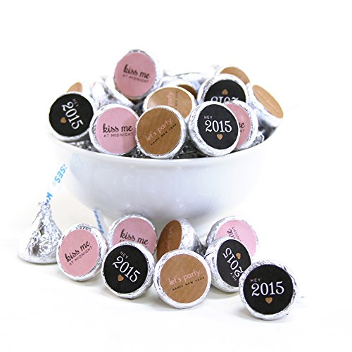 Andaz Press Bubbly New Years Eve Collection, Chocolate Drop Labels, 108-Pack