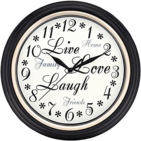 Westclox Round Live Love Laugh Message Clock