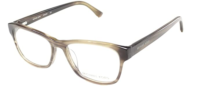 b642b389d7 Image Unavailable. Image not available for. Color  Michael Kors Eyeglasses  MK829M 226 Brown Horn ...