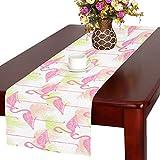 Flamingos Cotton Linen Placemat Table Runner 16'' x 72''