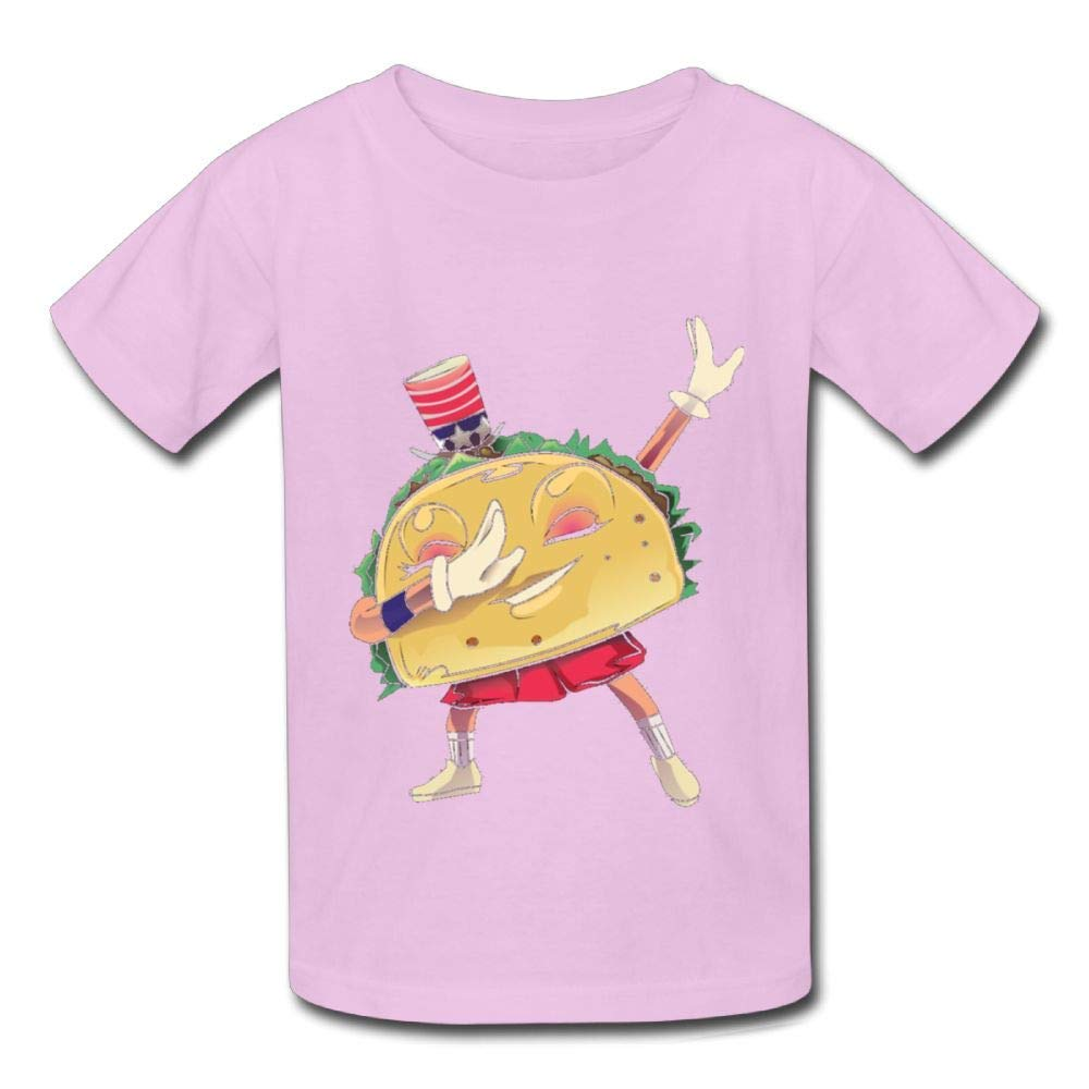 Short Sleeve Shirts Funny Taco Dabbing Baby Girls Toddlers