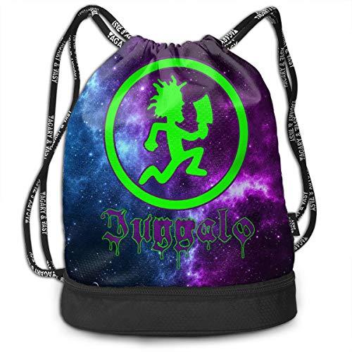 LIALUER Hatchetman ICP Drawstring Backpack Rucksack Shoulder Bags Gym Bag (Insane Clown Posse Bag)