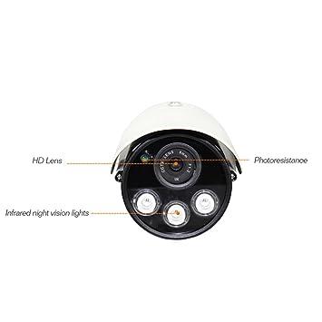 Sistemas de Vigilancia IP al aire libre cámara, WiFi largo alcance día visión nocturna,