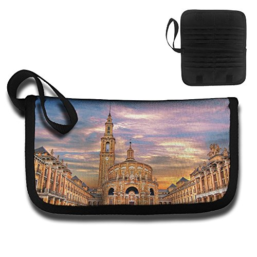 Building Sky Sunlight Spain Printing Multi-function Card Package Travel Document Receipt And Passport Bag