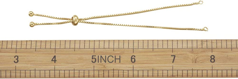 10Pcs Adjustable Nylon Slider Bracelet Cord 9 with Environmental Brass Stopper Beads Cadmium /& Nickel /& Lead Free for Bracelet Jewelry Making