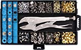 RAM-PRO All-In-One Snap, Grommet, Eyelet & Rivet Plier Tool Kit - The Complete Fastener Installation Setter Set for Tarps, Boat Covers, Canopies, Canvas, Awning Repair, and Grommet Replacement