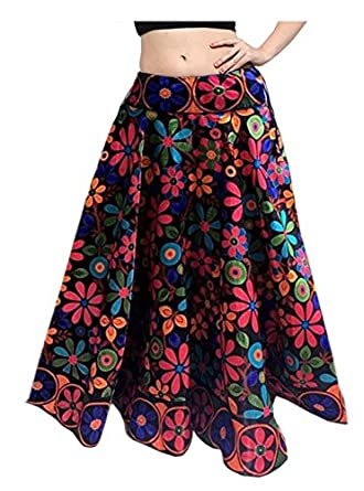 Mira Creation Women's Banglori Satin Skirt(MR11_Multicolour_Free Size)