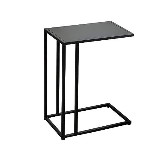 Sofá Mesa auxiliar lateral, mesa C, mesita de noche moderna con ...