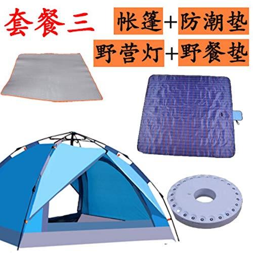 WXZB Außen-Outdoor-Automatik 3-4 Camping Zelt, Zwei Zimmer, eine Halle, Regenschutz, Familien-Suite.