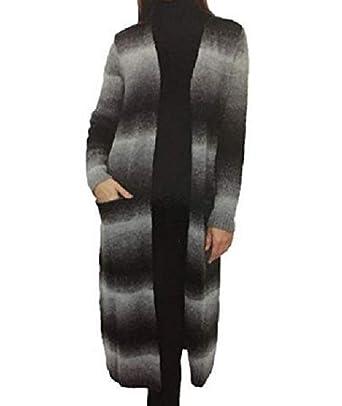 ff26451a2e Joseph A. Womens Long Length Knitted Striped Ombre Sweater (Medium ...