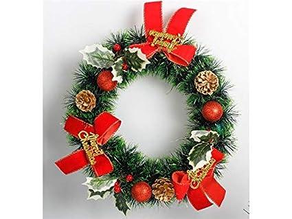 gelaiken world christmas bow knot christmas wreath door hanging ornaments room christmas tree pendants for
