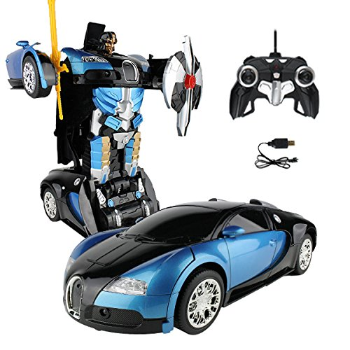 RC Car Blue Robot Remote Control Transforming Autobot (Transformers For Cars compare prices)