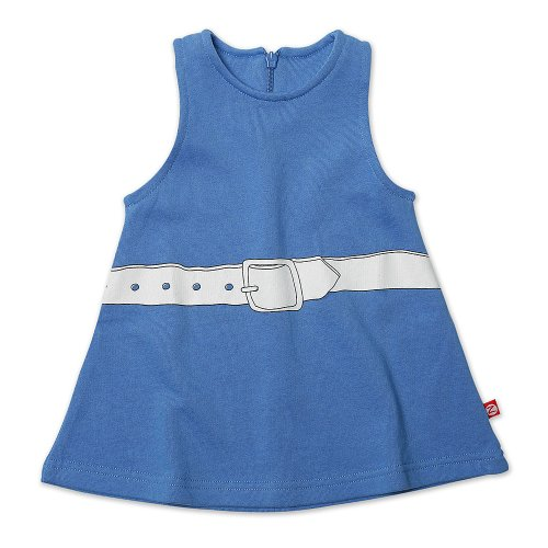 Zutano Baby Girls' Belt Screen Terry Jumper