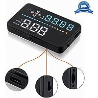 Hofumix Head Up Display 3.58 HUD Winshield Projector GPS Speedometer A3 HUD OBD2 Vehicle Speeding Warning for Cars