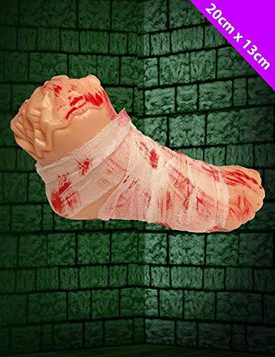 Scream Machine Halloween Fake Bloody Severed Foot Gore Zombie Prop Fancy Dress Accessory Decoration ()