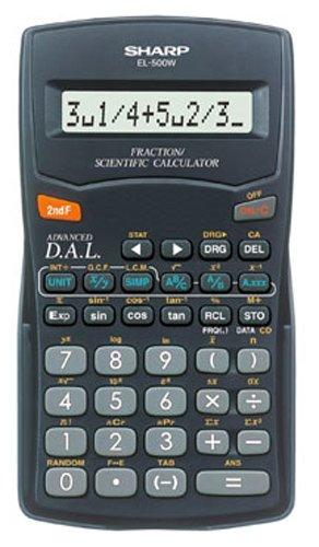 Sharp EL-500W wissenschaftlicher Schulrechner, Bruchrechnen, 1-teilig