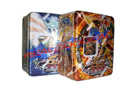YuGiOh 5D's 2009 Collector's Tins 1st Wave Ancient Fairy Dragon and Power Tool Dragon ( Set of 2 Tins (2009 Collector Tin Set)