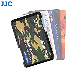 JW MCH-SDMSD6YG Credit Card Size Durable Lightweight Portable Memory Card Case Holder Protector With Writable Label For 2 SD Cards & 4 Micro SD Cards + JW Cleaning Cloth
