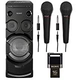 Sony MHC-V77W High Power One Box Party Music System with Built-In Wi-Fi (2017 Model) Bundle