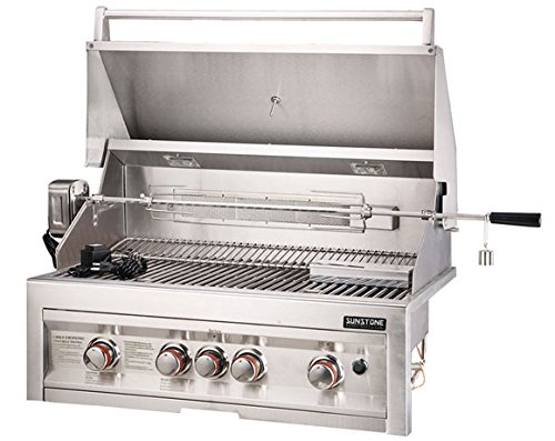 34 propane infrared 4 burner gas grill with lights gas. Black Bedroom Furniture Sets. Home Design Ideas